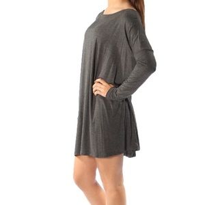 Mittoshop charcoal pocket dress